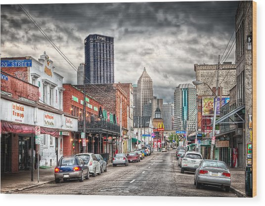 Strip District Pittsburgh Wood Print