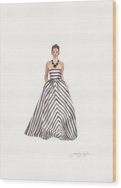 Striped Glamour Wood Print