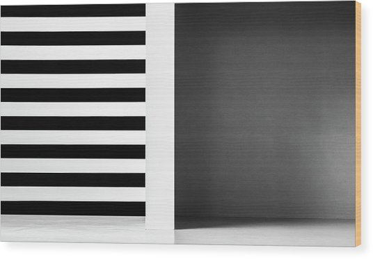 Stripes And Shadows Wood Print by Inge Schuster