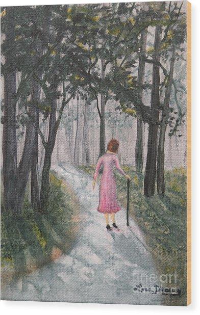 Strolling Down Memory Lane Wood Print