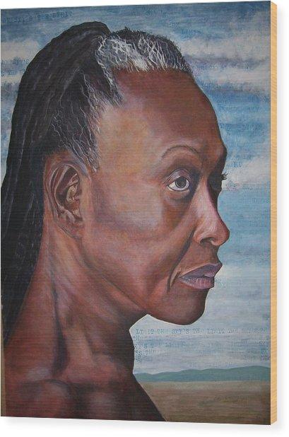 Strong Woman Wood Print by Linda Vaughon
