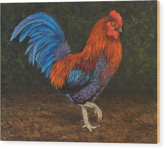 Struttin' My Colors Wood Print