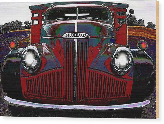 Studebaker Truck Wood Print