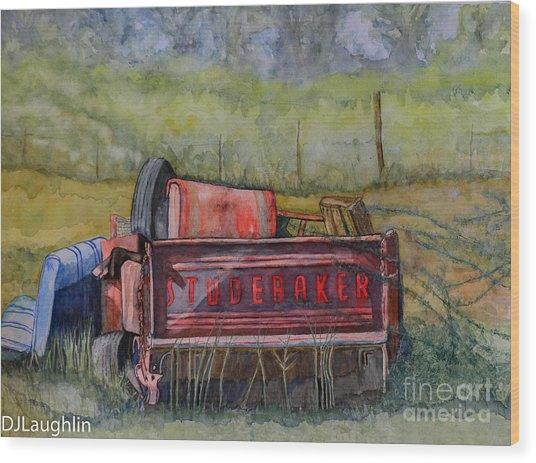 Studebaker Truck Tailgate Wood Print by DJ Laughlin