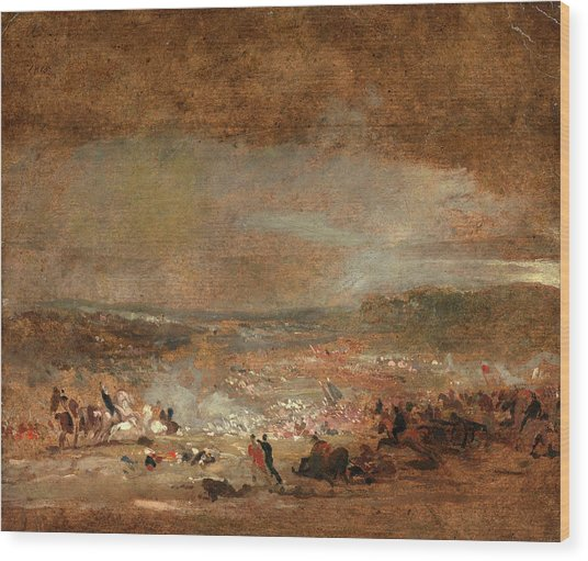 Study For Battle Of Waterloo Study For Battle Of Waterloo Wood Print by Litz Collection