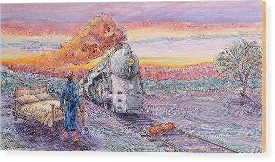 Study For Revenge Of The Sleepless Man Wood Print by Gary Symington