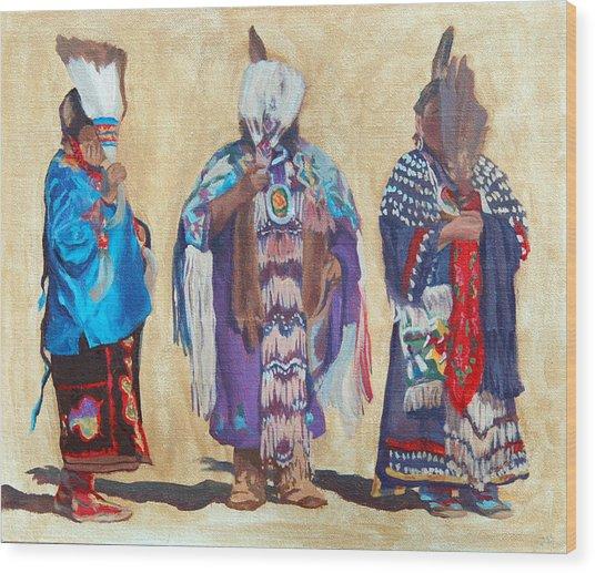 Study For The Three Sentinels Wood Print