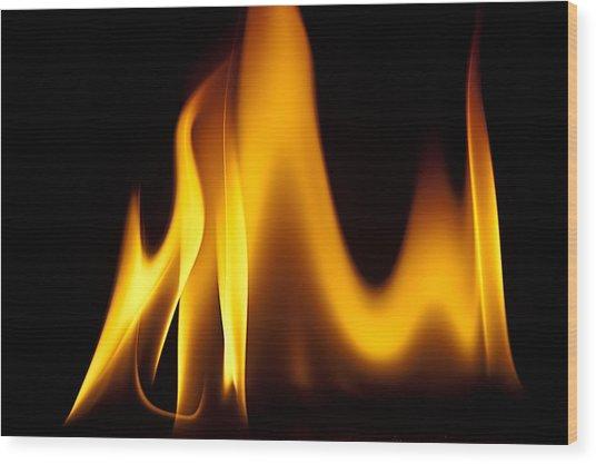 Study Of Flames I Wood Print