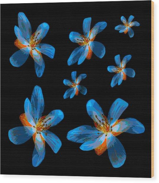 Study Of Seven Flowers #2 Wood Print