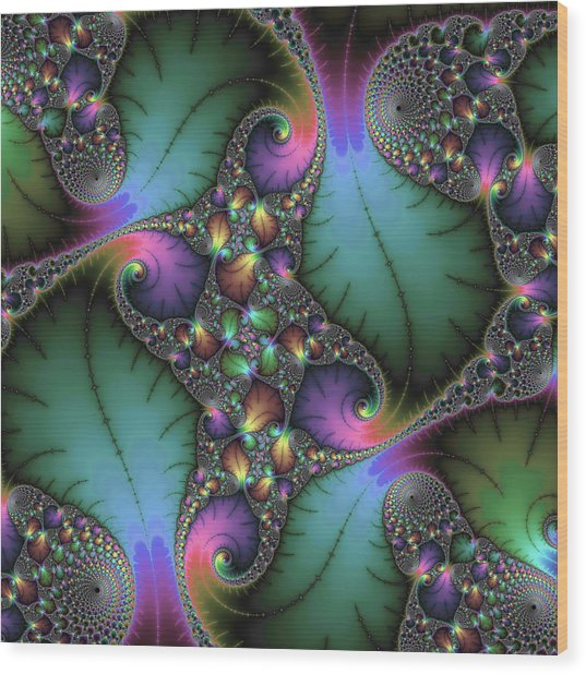 Stunning Mandelbrot Fractal Wood Print