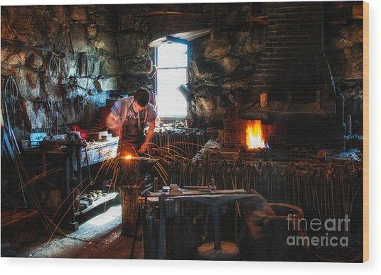 Sturbridge Village Blacksmith Wood Print