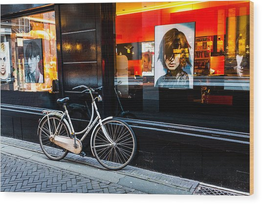 Stylish Dutch Bike Wood Print