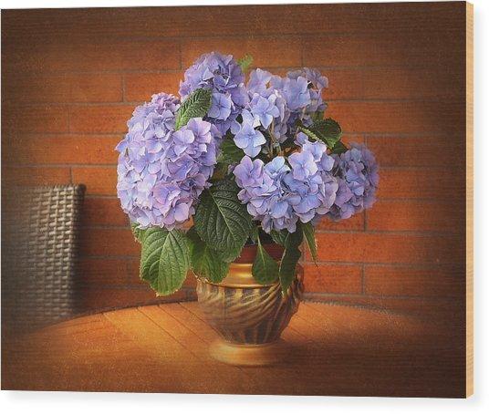 Stylish Hydrangea Wood Print