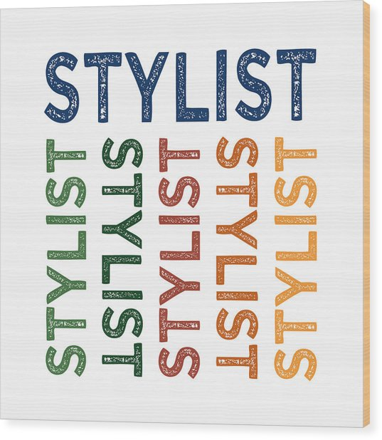 Stylist Cute Colorful Wood Print by Flo Karp