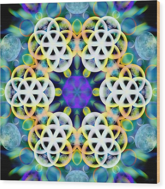 Wood Print featuring the digital art Subatomic Orbit by Derek Gedney