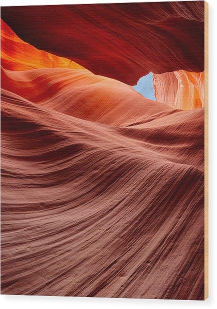 Subterranean Waves Wood Print