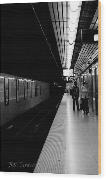 Subway Wood Print by BandC  Photography