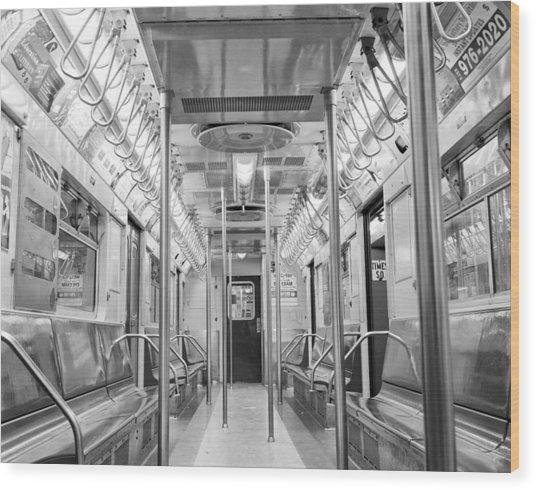 New York City - Subway Car Wood Print