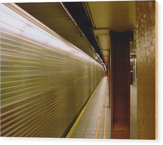 Subway Speed Wood Print
