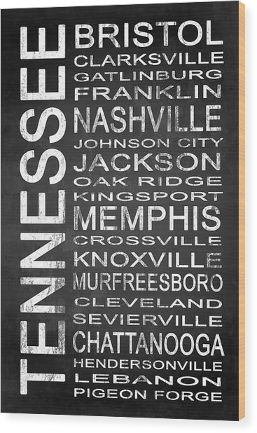 Subway Tennessee State 1 Wood Print