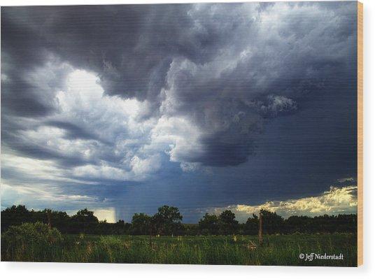Sudden Storm Wood Print