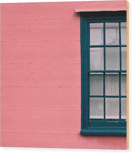 Suffolk Pink Wood Print