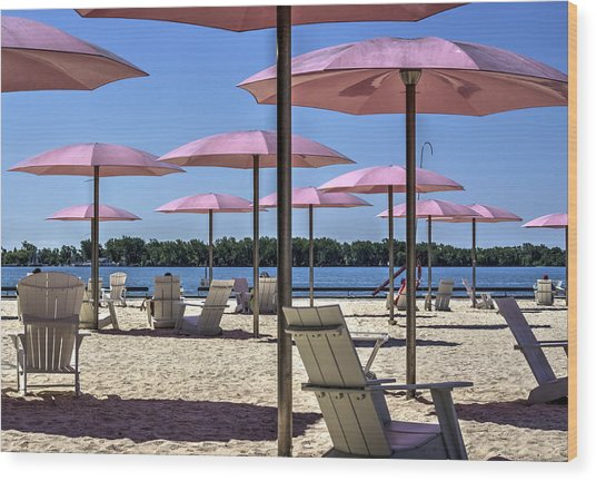 Sugar Beach Summer Wood Print