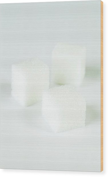 Sugar Cubes Wood Print by Gustoimages/science Photo Library