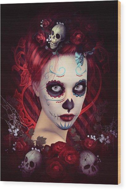 Sugar Doll Red Wood Print