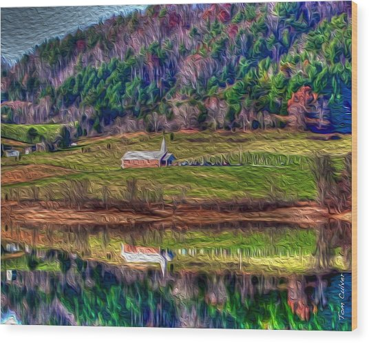 Sugar Grove Reflection Wood Print