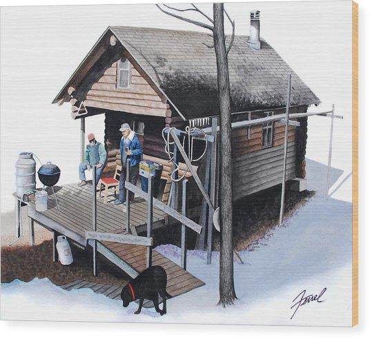 Sugarbush Cabin Wood Print