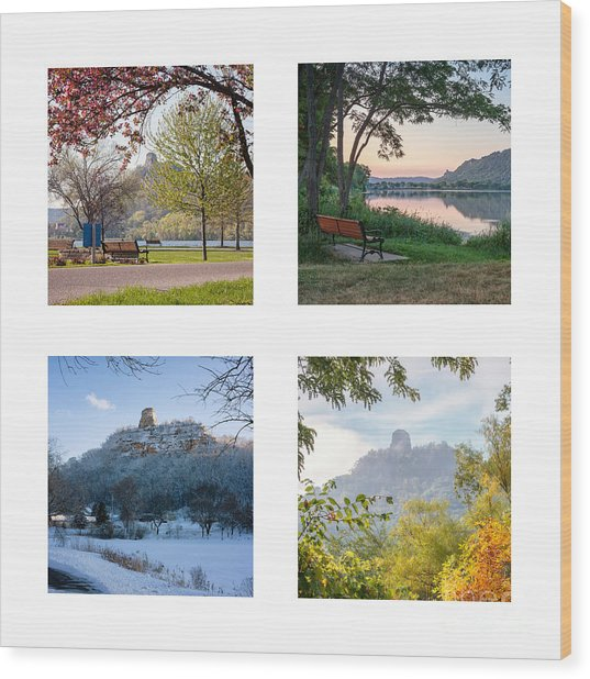 Wood Print featuring the photograph Sugarloaf Four Seasons Square by Kari Yearous