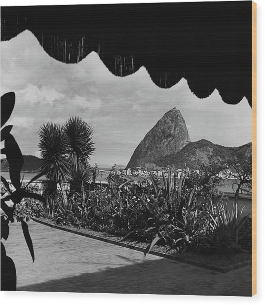 Sugarloaf Mountain Seen From The Patio At Carlos Wood Print