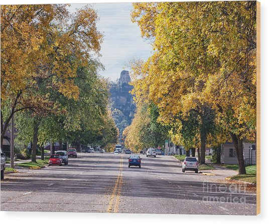 Wood Print featuring the photograph Sugarloaf Souvenir - Mankato Avenue by Kari Yearous