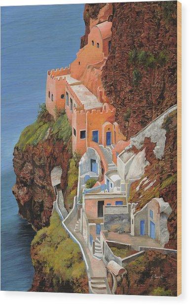 sul mare Greco Wood Print
