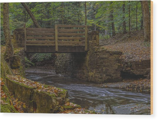 Sulphur Springs Bridge Wood Print