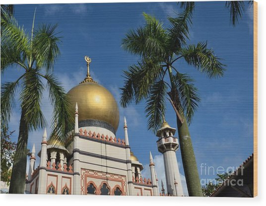 Sultan Masjid Mosque Singapore Wood Print