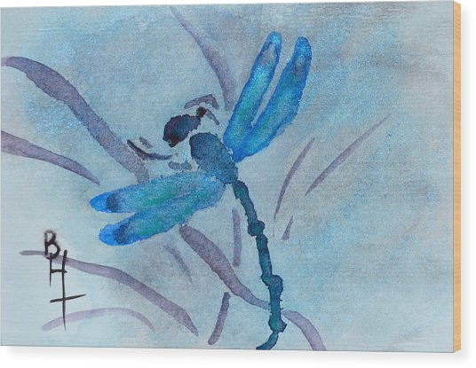 Sumi Dragonfly Wood Print