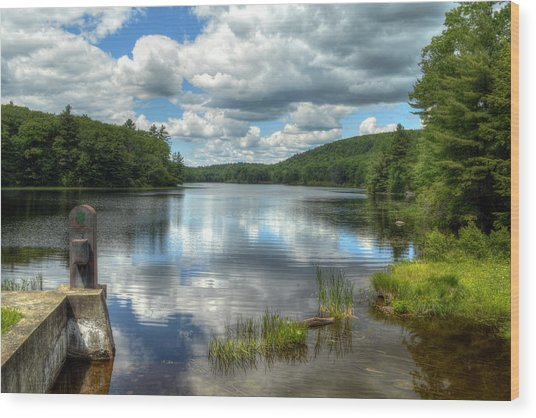 Summer Afternoon At The Spillway Wood Print