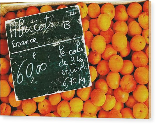 Summer Apricots Wood Print by Christian Capucci