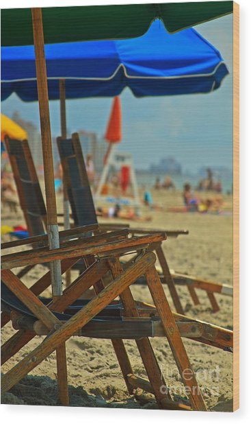 Summer At The Beach Wood Print