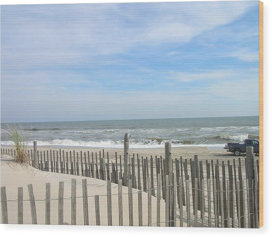Summer At The Jersey Shore Wood Print