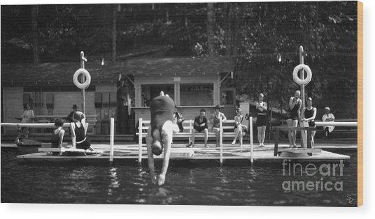 Summer At The Lake 1928 Wood Print