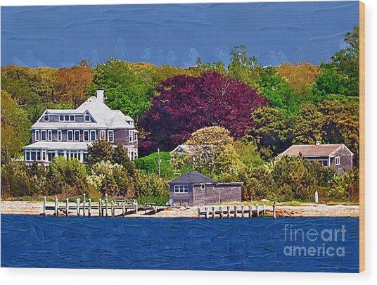 Summer At The Shore Wood Print