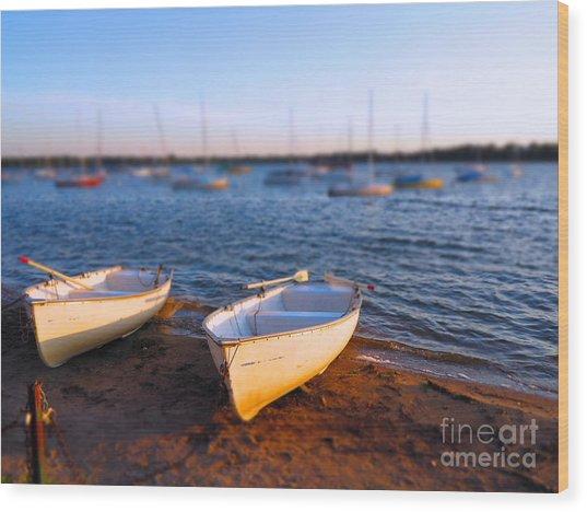 Summer Boats Wood Print