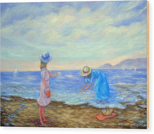 Summer By The Sea... Wood Print