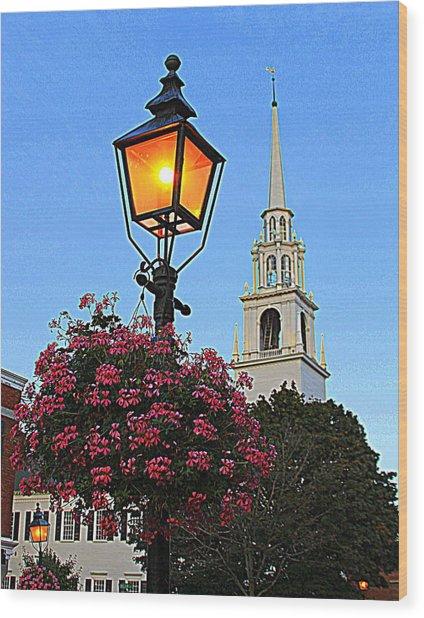 Summer Church And Lantern Wood Print