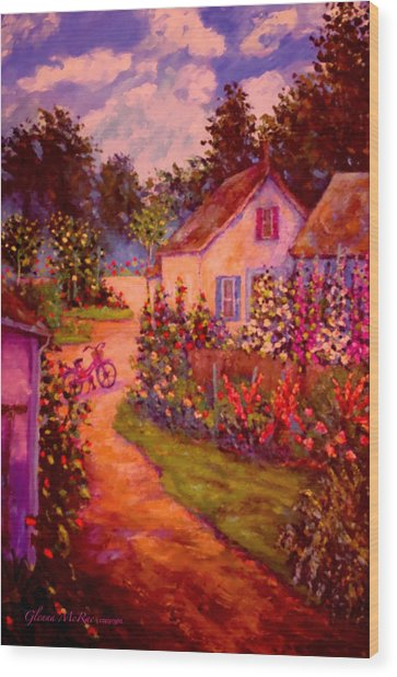 Summer Days At The Cottage Wood Print