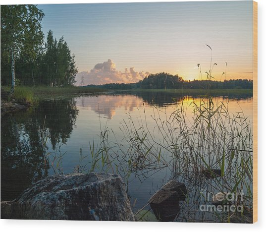 Summer Evening To Remember Wood Print