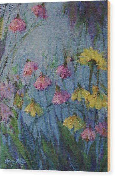Summer Flower Garden Wood Print